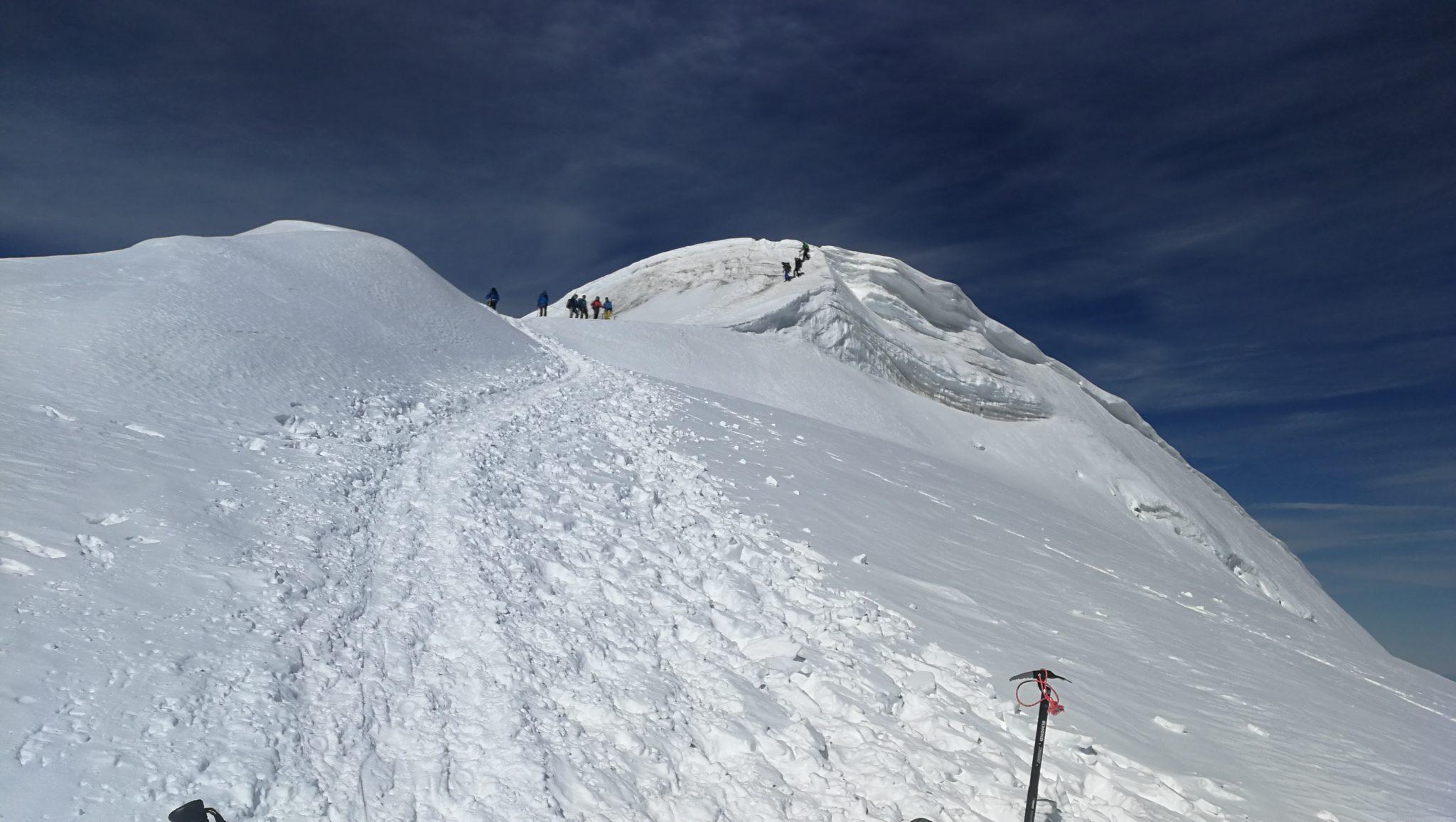 Widok na szczyt Bishornu